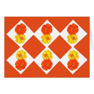 Orange and yellow flowers by Phaedra's Phantasies Note Card