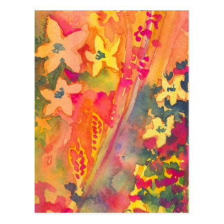 Orange and yellow flowers postcard