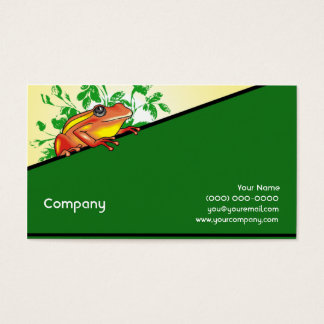 Orange and Yellow Frog Business Card
