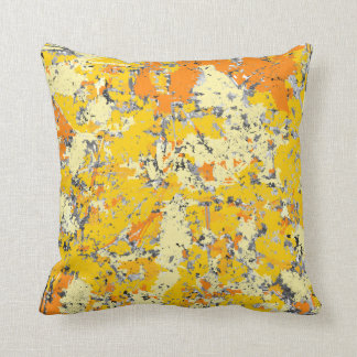 Orange and Yellow Grunge Cushion