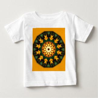 Orange and Yellow Iris, Floral mandala-style T-shirts
