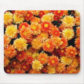 Orange and Yellow Mums Mouse Mat