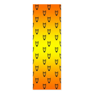 Orange and yellow owl pattern business card template