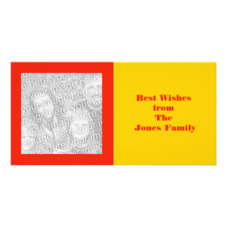 orange and yellow customized photo card