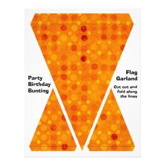 Orange and Yellow Polka Dots 21.5 Cm X 28 Cm Flyer