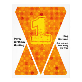 Orange and Yellow Polka Dots Flyer Design