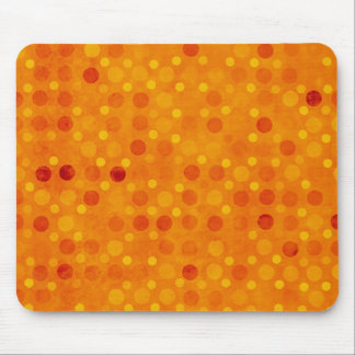 Orange and Yellow Polka Dots Mousepads