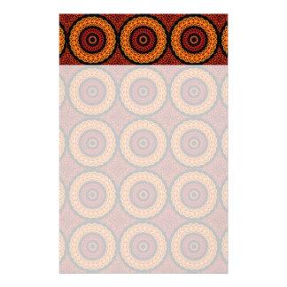 Orange and Yellow Retro Mandala Stationery