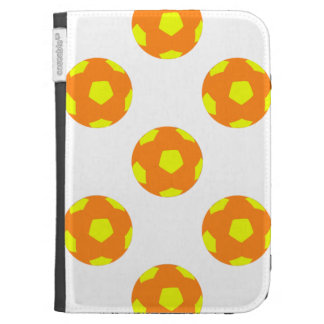 Orange and Yellow Soccer Ball Pattern Kindle Case