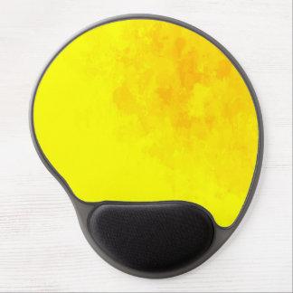 Orange and yellow splatter gel mousepad gel mouse mat