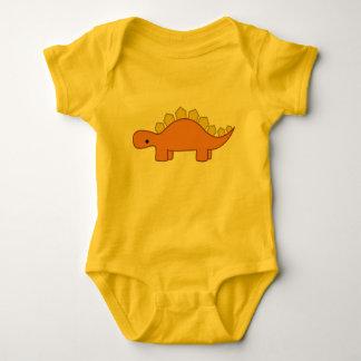 Orange and Yellow Stegosaurus Dinosaur Baby Dino Baby Bodysuit