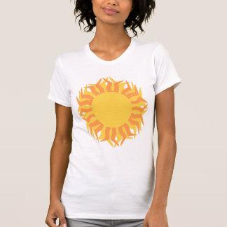Orange and Yellow Stylized Sun Tshirt