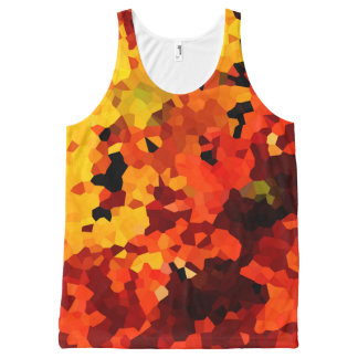 Orange and Yellow Sunflowers All-Over Print Tank Top