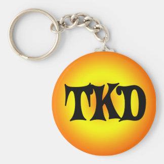 Orange and Yellow TKD Keychain