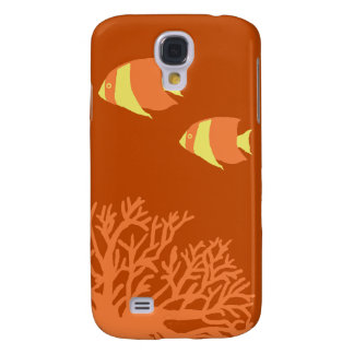 Orange and Yellow Tropical Angelfish Galaxy S4 Case