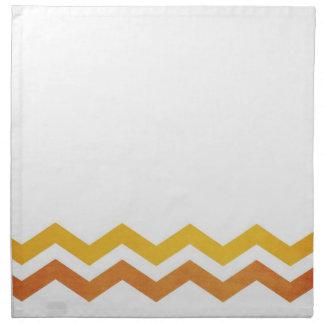 Orange and Yellow Zig Zag Pattern Napkin