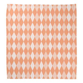 Orange Argyle Pastel Tangerine Small Diamond Shape Head Kerchief