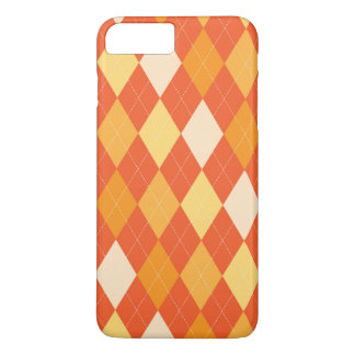 Orange argyle pattern iPhone 8 plus/7 plus case