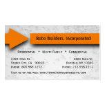 Orange Arrow Construction Business Card