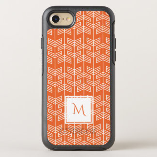 Orange Arrow Pattern Monogram OtterBox Symmetry iPhone 8/7 Case