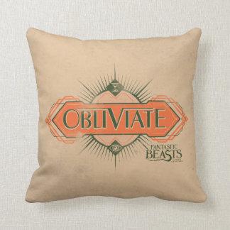 Orange Art Deco Obliviate Spell Graphic Cushion