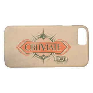 Orange Art Deco Obliviate Spell Graphic iPhone 8/7 Case