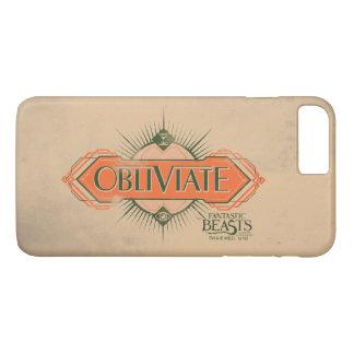 Orange Art Deco Obliviate Spell Graphic iPhone 8 Plus/7 Plus Case