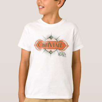 Orange Art Deco Obliviate Spell Graphic T-Shirt