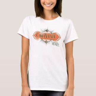 Orange Art Deco Obliviate Spell Graphic T-Shirt