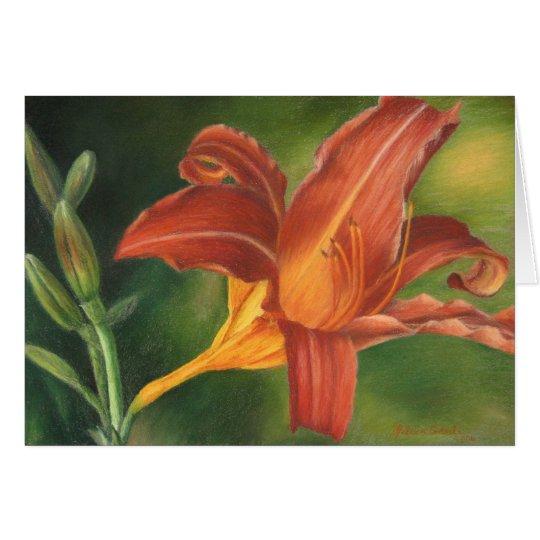 Orange Asiatic Lily Card