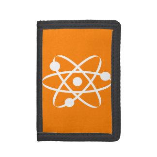 Orange Atom Tri-fold Wallets