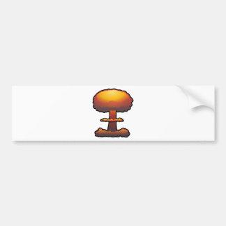 Orange Atomic/Nuclear Explosion Mushroom Cloud Bumper Sticker