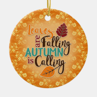 Orange Autumn Leaves are Falling Ornament