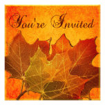Orange Autumn Leaves Thanksgiving Announcements