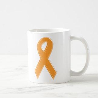 Orange Awareness Ribbon Basic White Mug