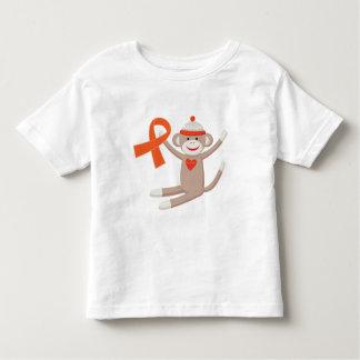 Orange Awareness Ribbon Sock Monkey Toddler T-Shirt