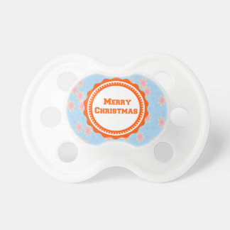 Orange Baby's First Merry Christmas  Pacifier