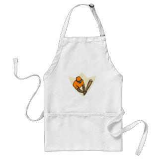 Orange ball player adult apron