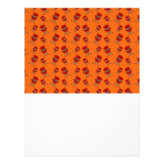 Orange barbeque pattern personalized flyer