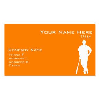 Orange Baseball Business Card Template