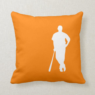 Orange Baseball Cushion
