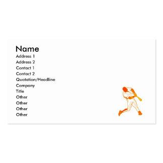 Orange baseball logo pack of standard business cards