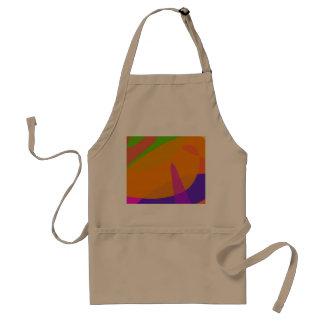 Orange Based Abstract Art Standard Apron