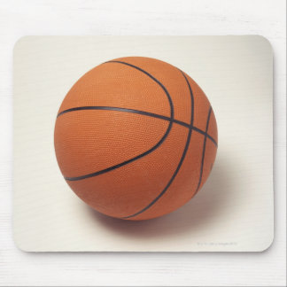 Orange basketball, close-up mouse mat