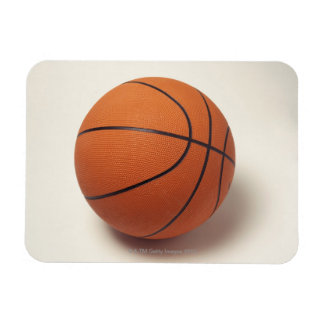 Orange basketball, close-up rectangular photo magnet