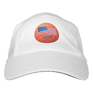 Orange basketball hat