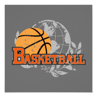 Orange Basketball T-shirts and Gifts 13 Cm X 13 Cm Square Invitation Card