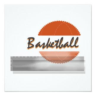 Orange Basketball Tshirts and Gifts 13 Cm X 13 Cm Square Invitation Card