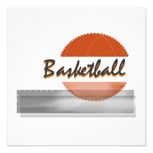 Orange Basketball Tshirts and Gifts Custom Announcement
