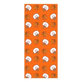 Orange basketballs and nets pattern custom rack cards